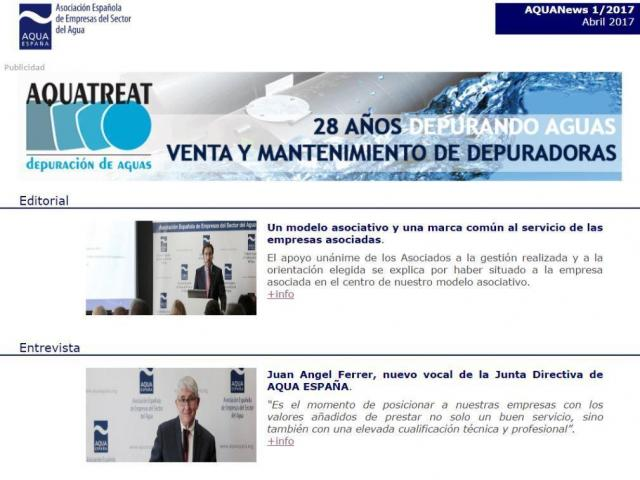 Newsletter trimestral AQUANews 1/2017